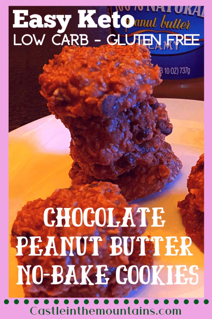 Super easy keto No-Bake Cookies recipe Pin