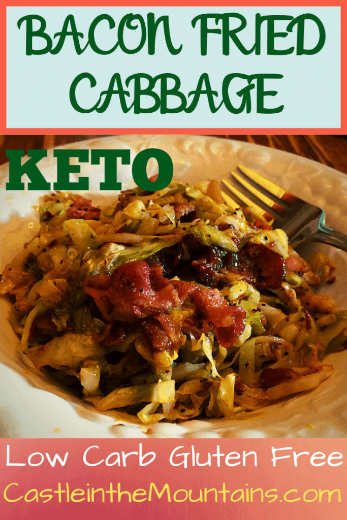 Keto Bacon Fried Cabbage low carb recipe