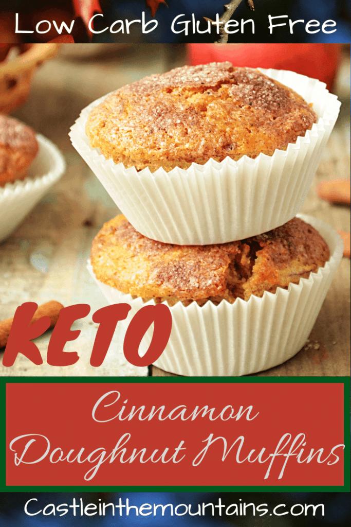 Keto Cinnamon Donut Muffins recipe pin