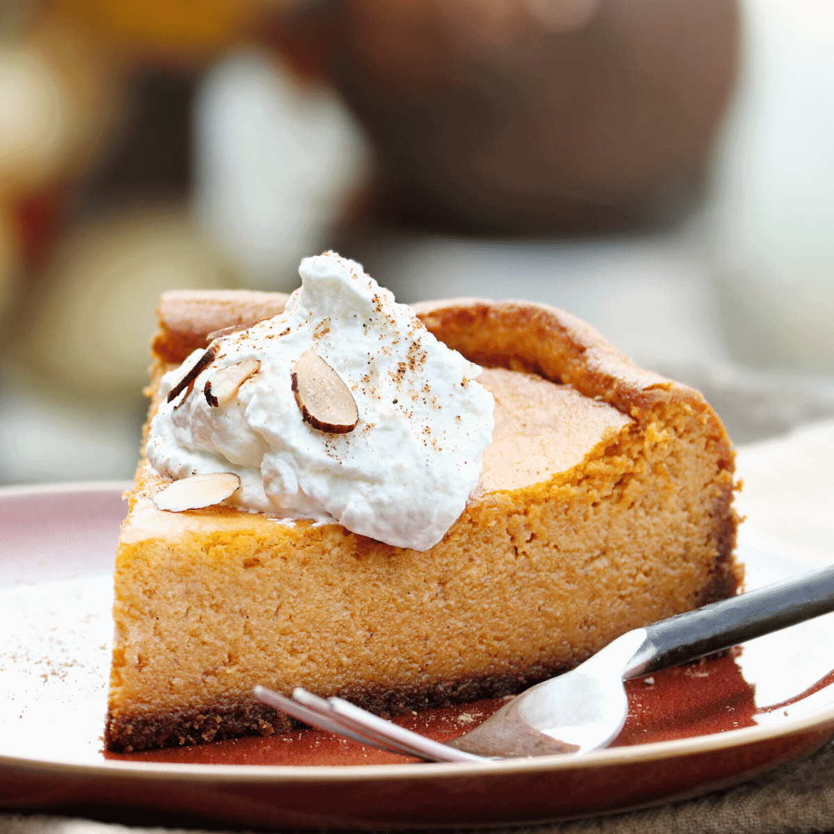 Keto Pumpkin Cheesecake recipe gluten free low carb