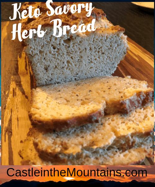Worlds best keto herb bread
