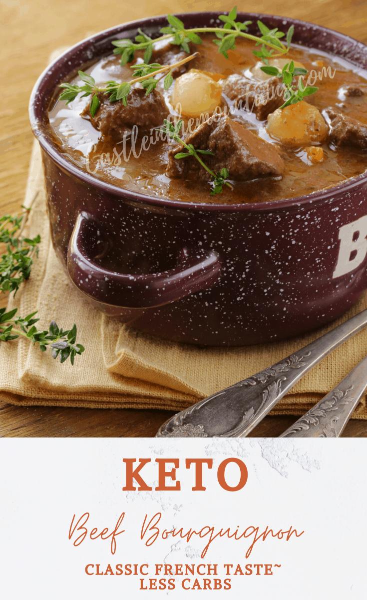 Keto Crock-pot Beef Bourguignon