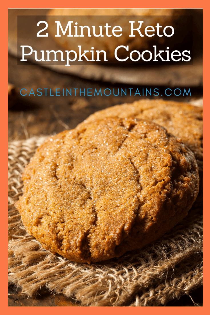 2 Minute Keto Pumpkin Cookies