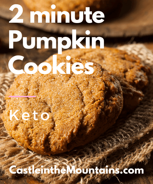 Low Carb Pumpkin Cookies to stay in ketosis