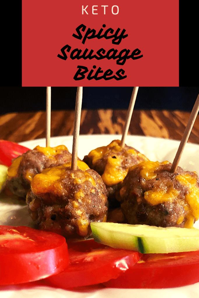 Low Carb Spicy Sausage Bites pin