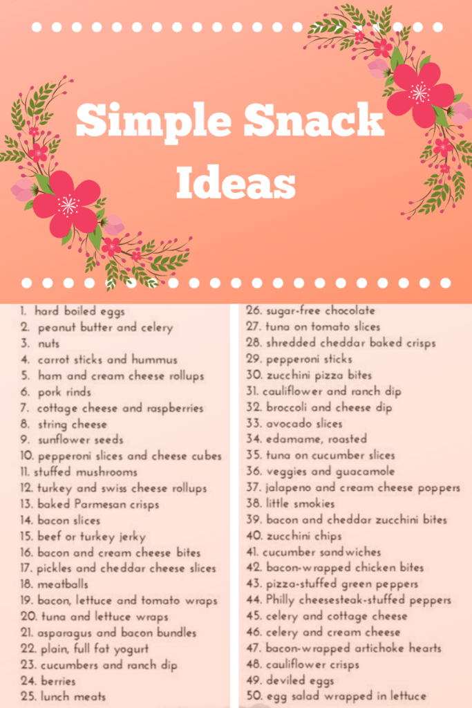 Keto Snack Cheat Sheet