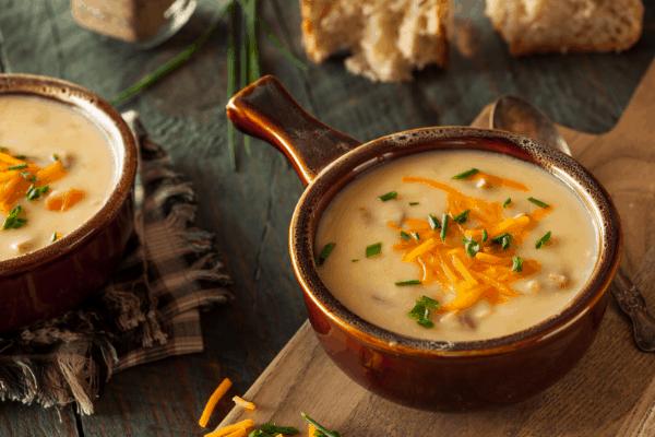 Sausage & Cheddar low carb soup
