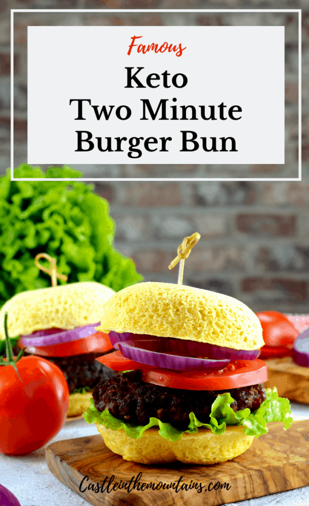 Keto Two Minute Burger Bun ready to eat