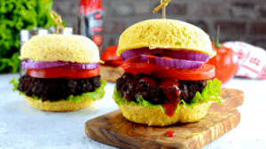 Keto two minute burger bun post