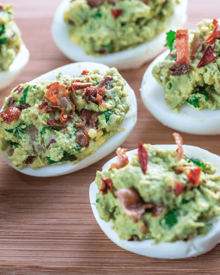Simple Bacon Guacamole recipe keto low carb gluten free