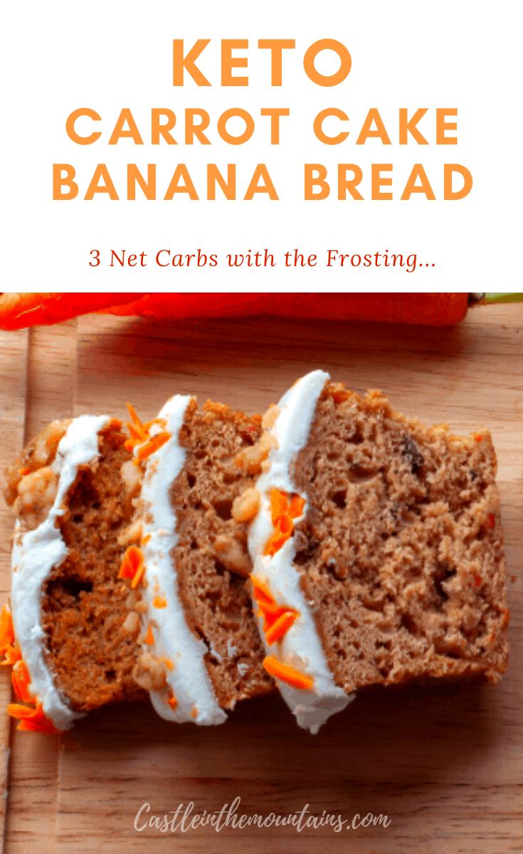 Keto Carrot Cake Banana Bread