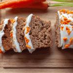 Keto Carrot Cake Banana Bread recipe low carb gluten free dessert