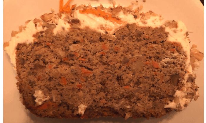 Keto Carrot Cake Banana Bread slice