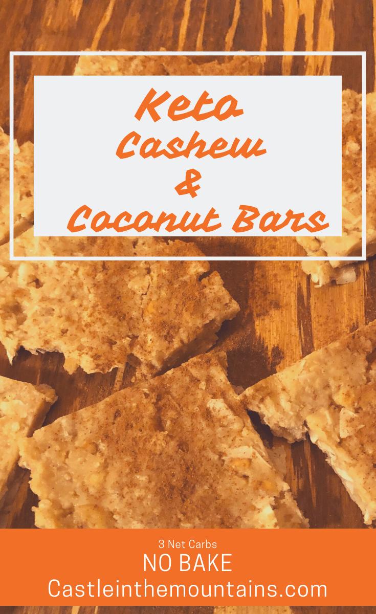 Keto Cashew Coconut Bars
