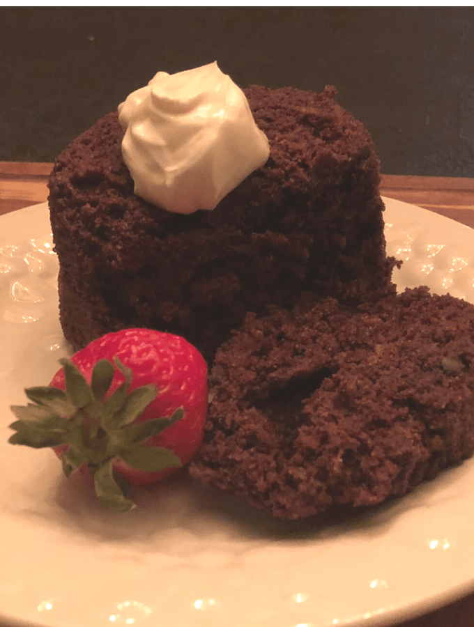Keto Two Minute Chocolate Cake recipe low carb gluten free dessert