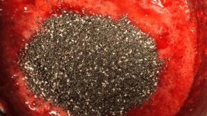 Low-Carb Strawberry Jam chia seeds