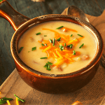Sausage & Cheddar Soup with Cauliflower