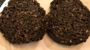 Keto Black Burger Buns baked