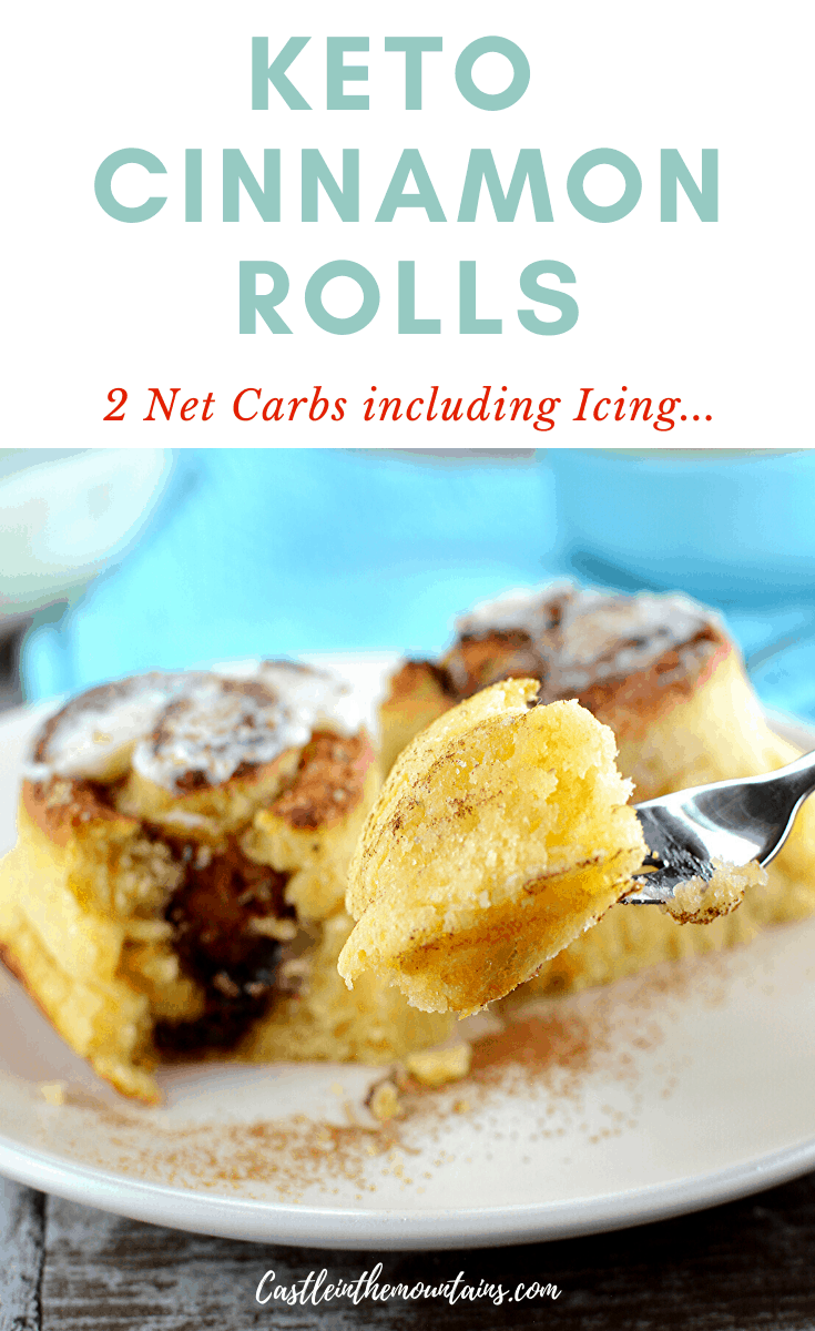 Frosted Keto Cinnamon Rolls