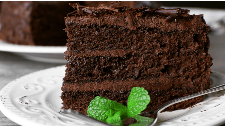 Keto Death by Chocolate Cake-slice