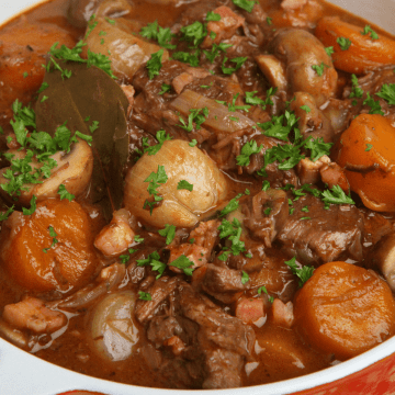 Beef Bourguignon recipe Keto Low Carb gluten free