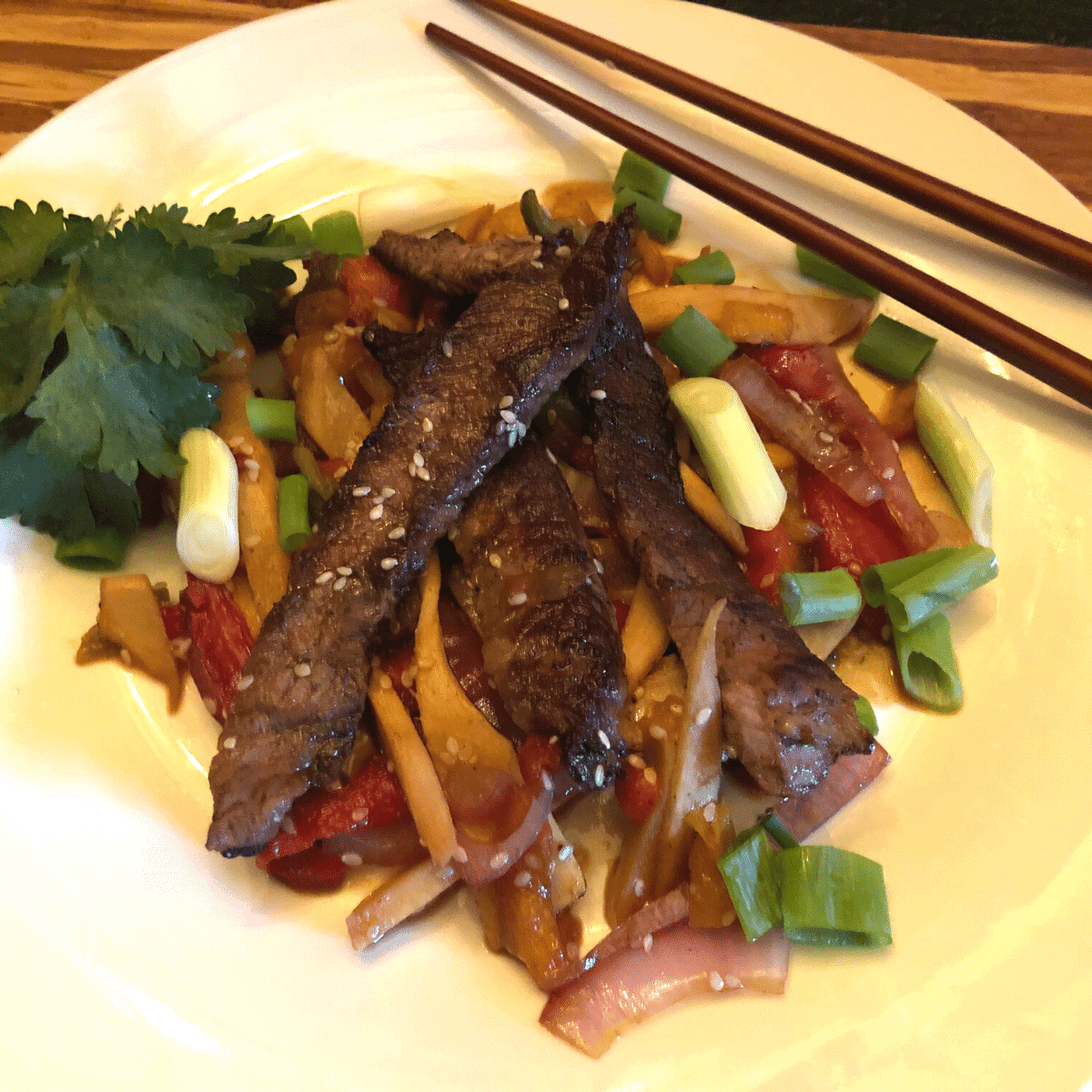Keto Beef Stir Fry recipe gluten free low carb
