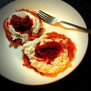 Keto Breakfast cheese shell tacos recipe gluten free