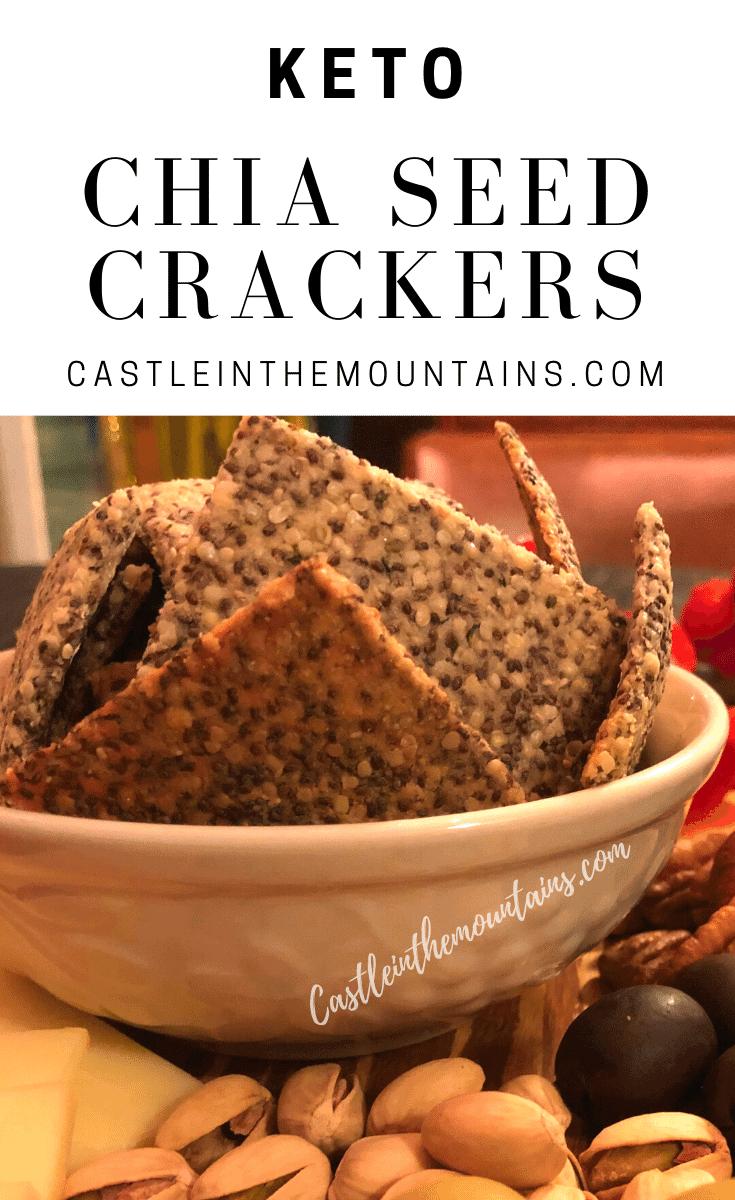 Keto Chia Seed Crackers - How to make the crispiest Keto crackers