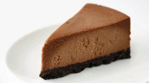 Keto Chocolate Cheesecake plain slice