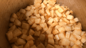 Keto Green Apple Crumble cooking