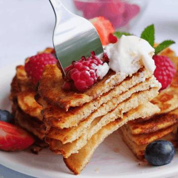 Low Carb Pancakes recipe, Gluten free coconut flour