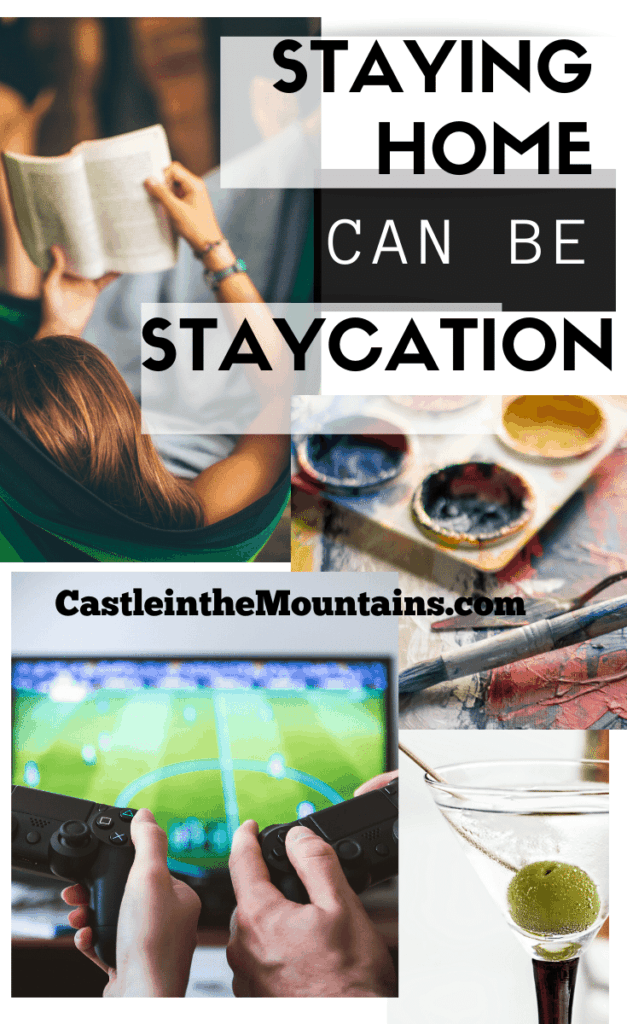 Staying Home Staycation pin