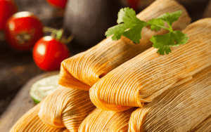 Tamales in a stack