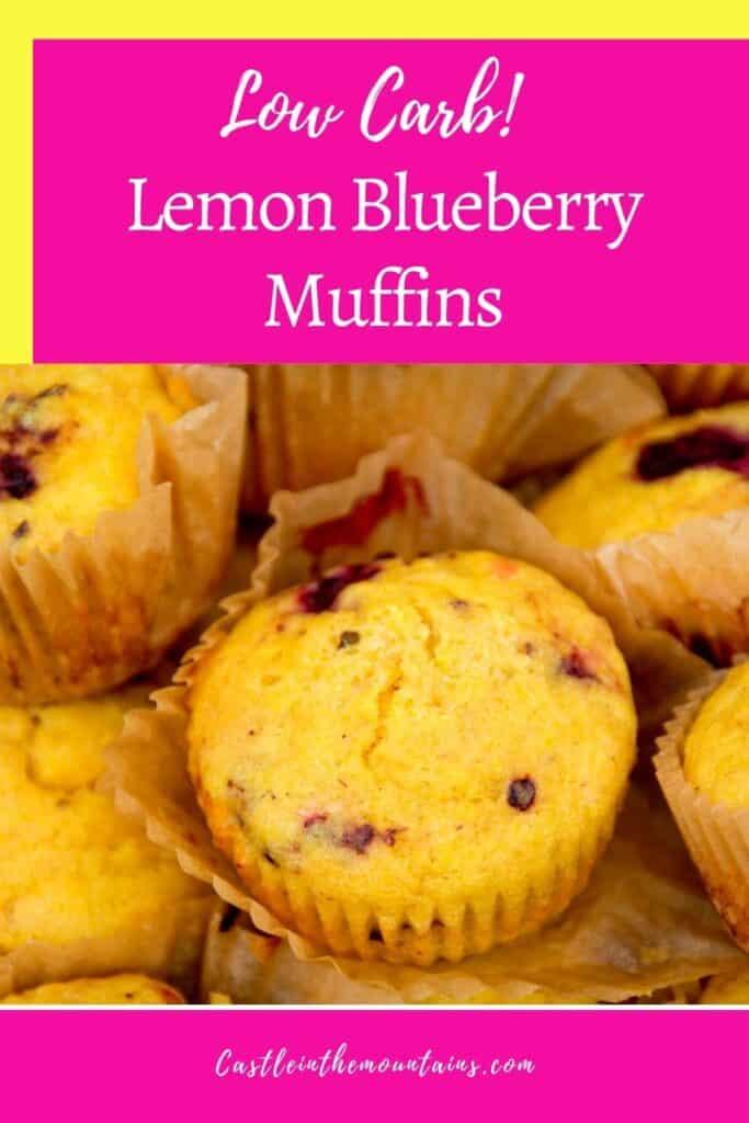 Keto Lemon Blueberry Muffins Pins (1)