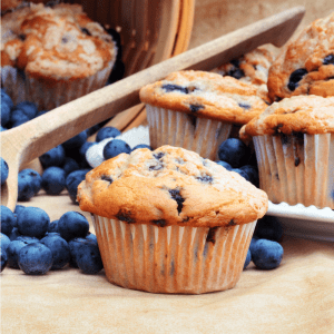 Keto Lemon Blueberry muffins recipe gluten free low carb
