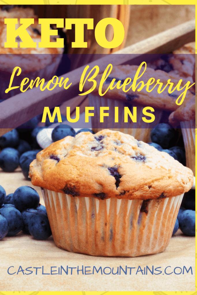 Keto Lemon Blueberry Muffins pin