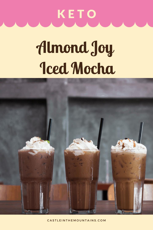 Keto Almond Joy Iced Mocha