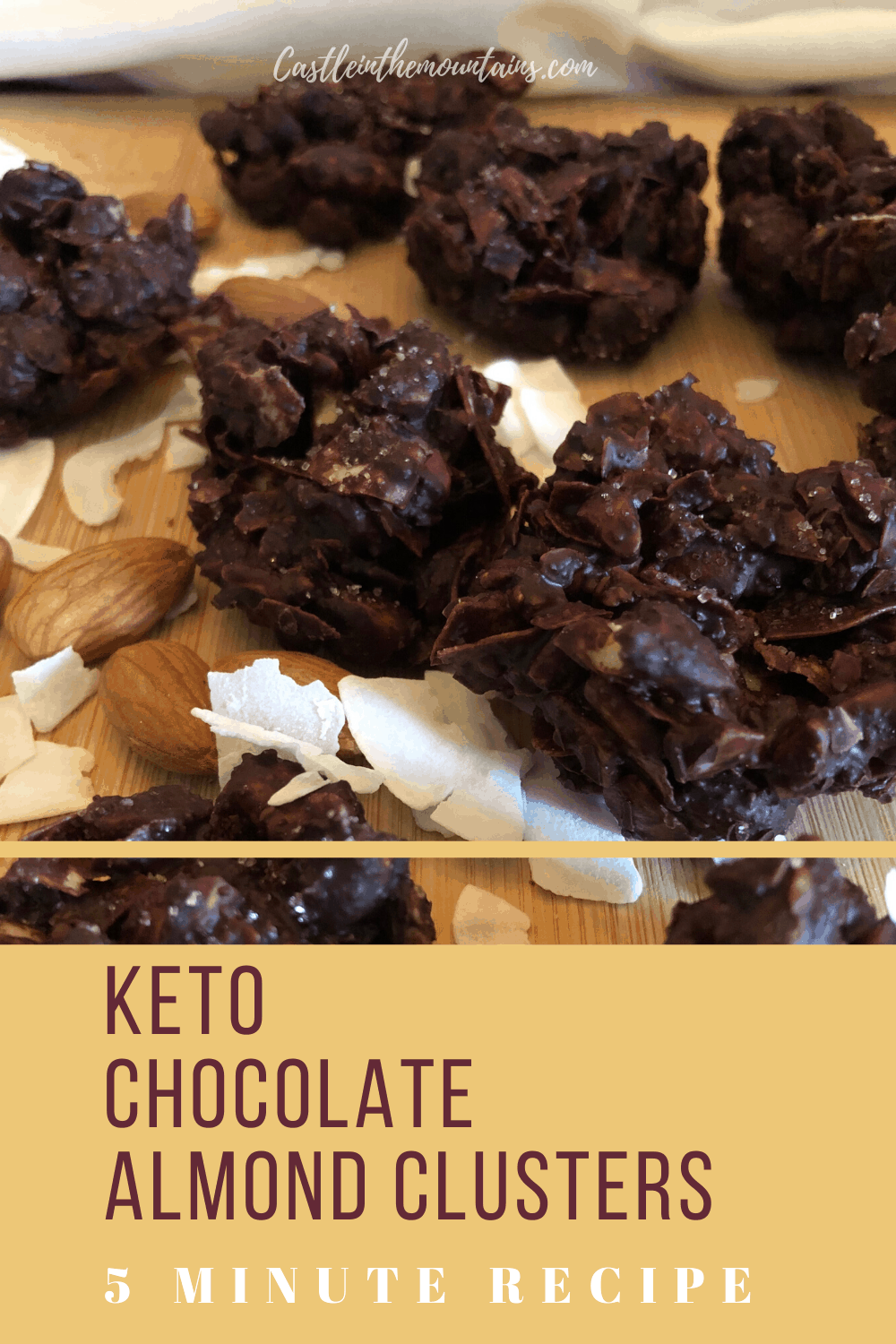Keto Chocolate Almond Clusters