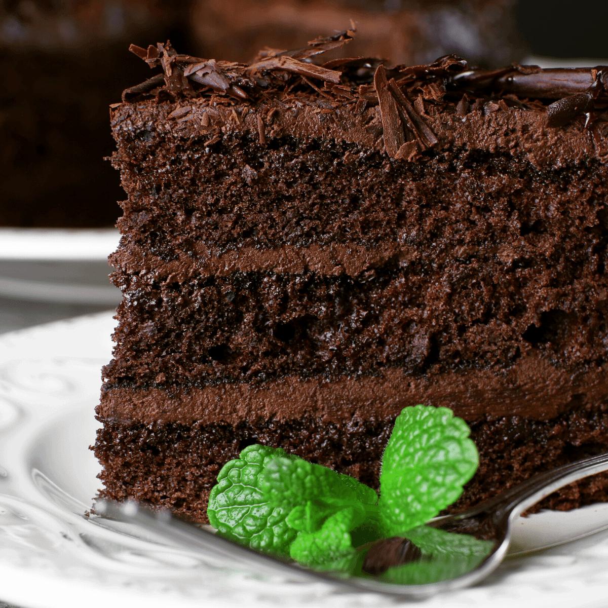 Keto Death by Chocolate Cake recipe low carb gluten free dessert