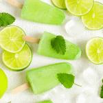 Keto Key Lime Coconut popsicles recipe low carb dessert