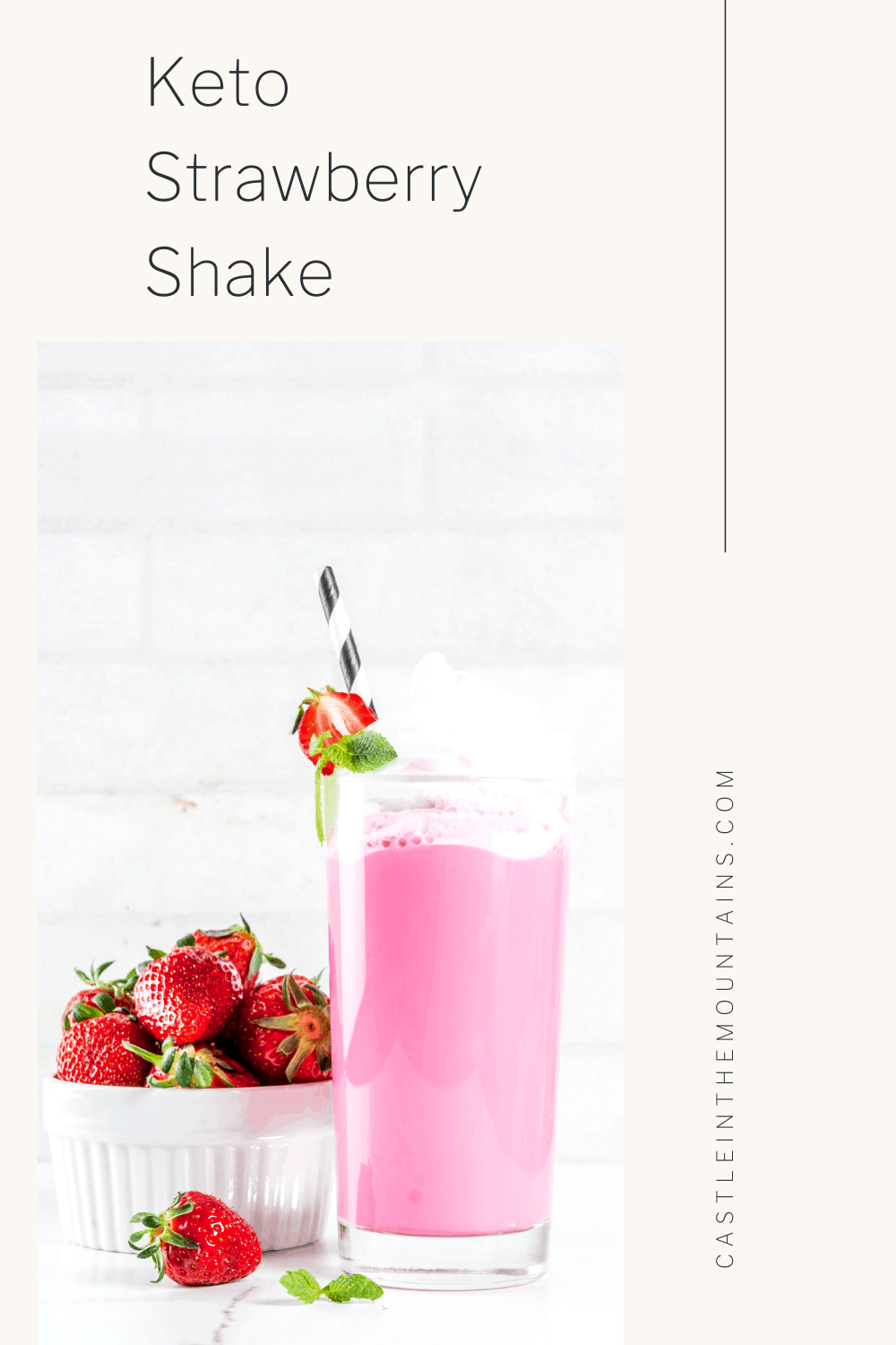 Keto Strawberry Milkshake