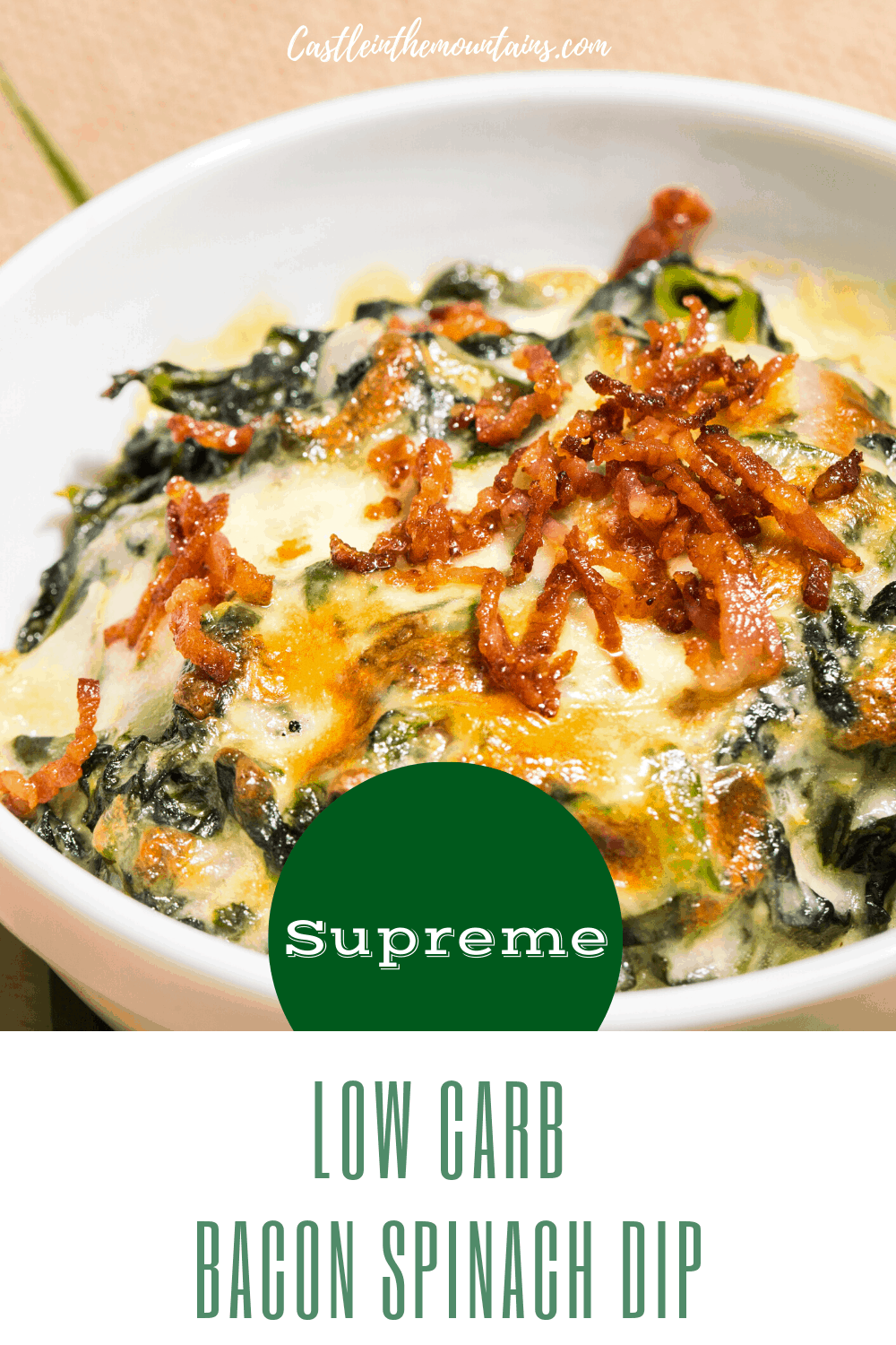 Low Carb Bacon Spinach Dip Supreme