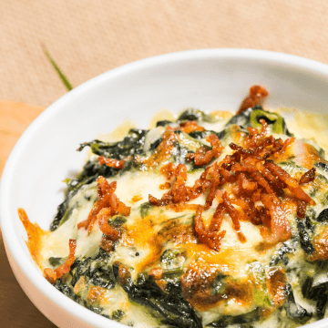 Low carb Bacon Spinach Dip recipe Keto gluten free