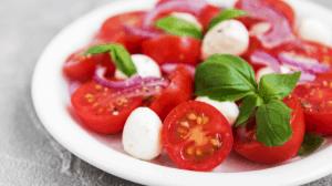 Caprese Salad recipe- served in a bowl