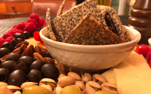 Keto Chia Seed Crackers
