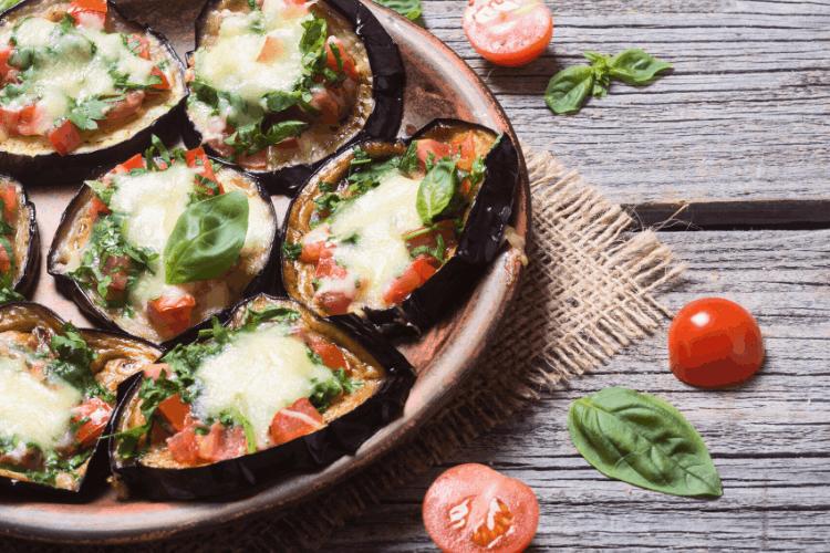 Eggplant Pizza Bites served (1)