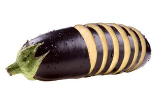 Sliced Eggplant- Eggplant pizza bites