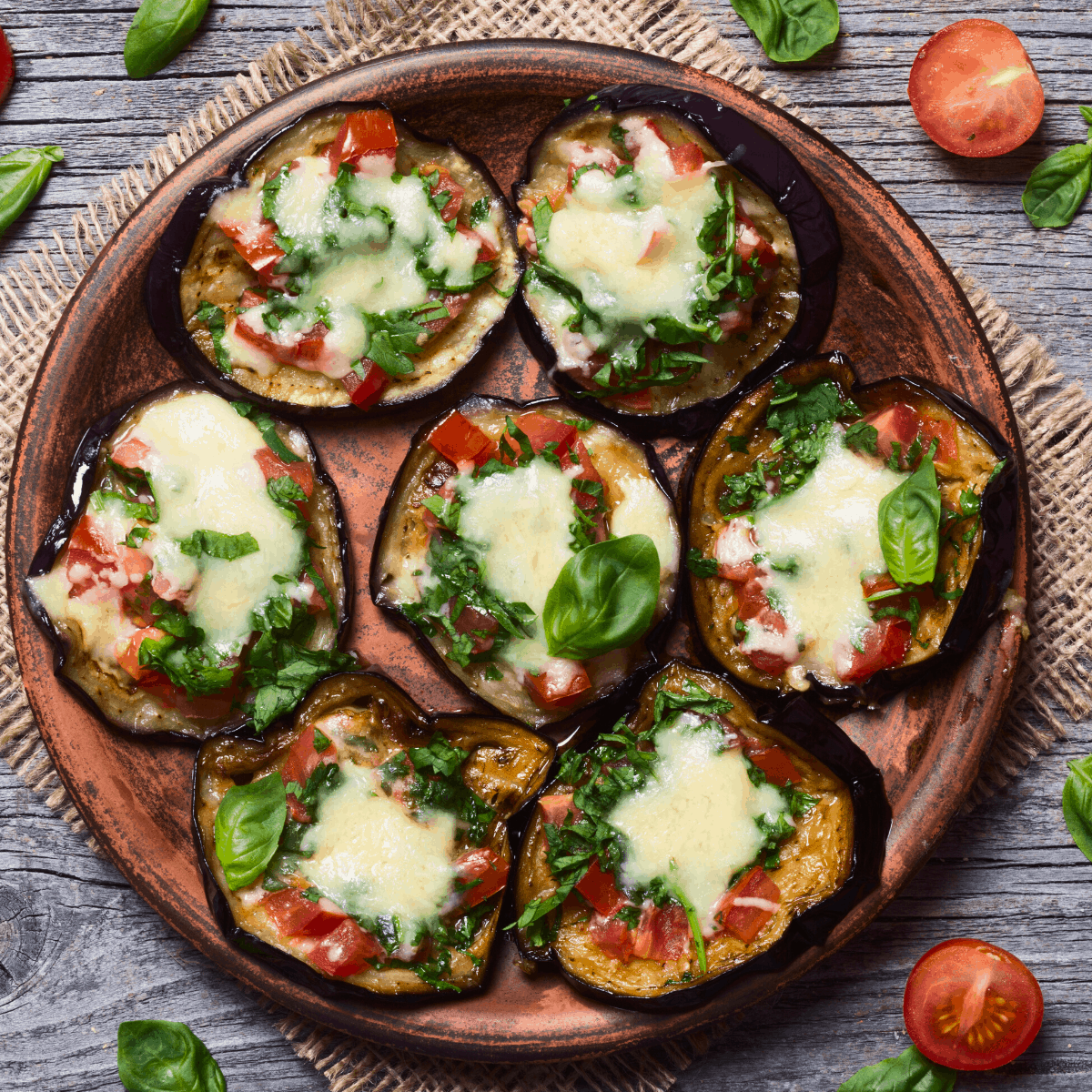 Eggplant Pizza Bites Recipe FI