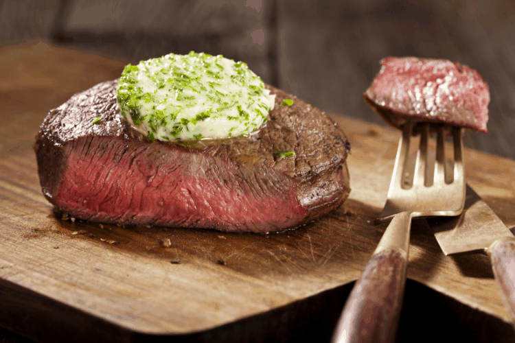 How to Make Savory Butter - butter on steak