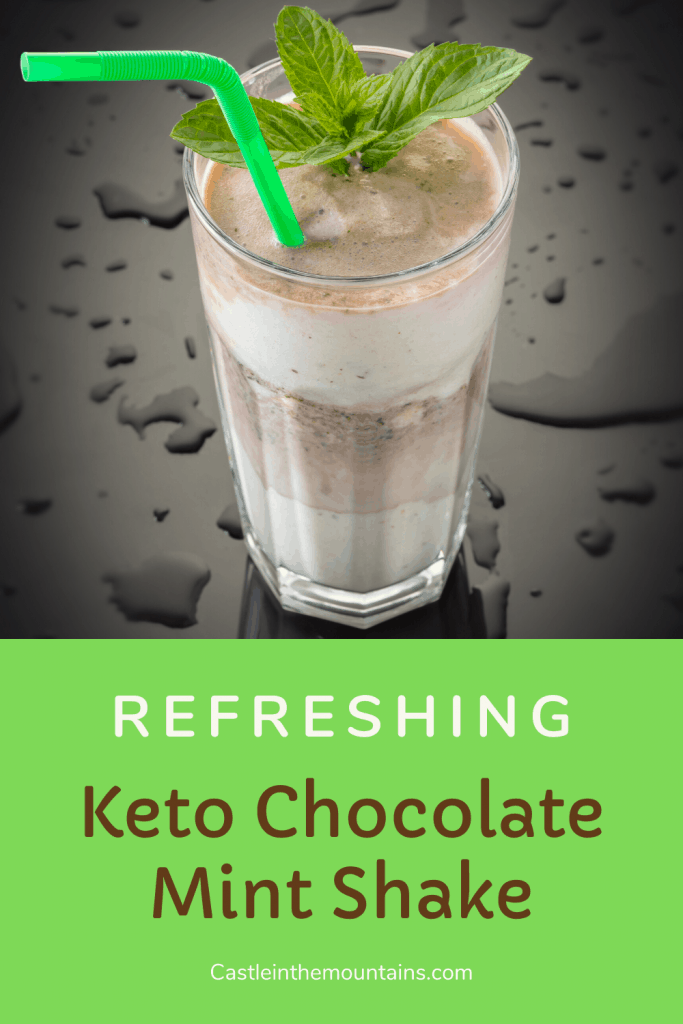 Keto Chocolate Mint Shake Recipe pin (1)